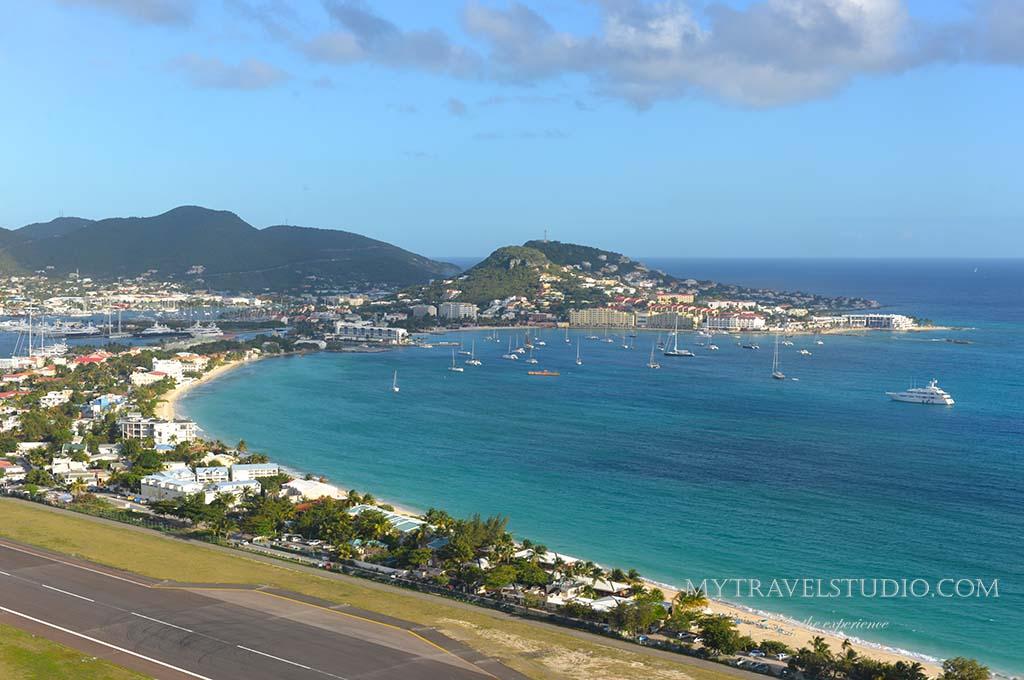 British Virgin Islands from plane